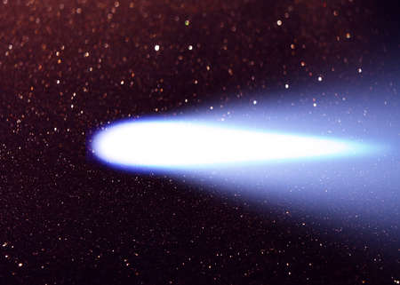 Comet Hale bopp in the night sky, A large and bright Comet.