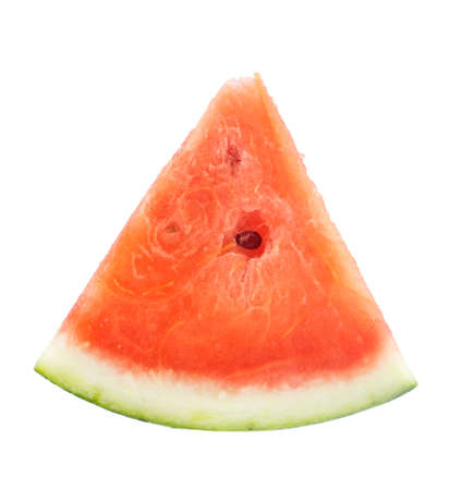 Slices of watermelon on white background photo