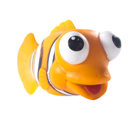 toy fish: Amman, Jordan - November  1, 2014: Marlin cartoon fish toy character of Finding Nemo movie from Disney Pixar animation studio. Editorial