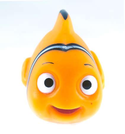 disney cartoon: Amman, Jordan - November  1, 2014: Marlin cartoon fish toy character of Finding Nemo movie from Disney Pixar animation studio. Editorial