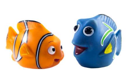 Amman, Jordan - November  1, 2014: Marlin cartoon fish toy character of Finding Nemo movie from Disney Pixar animation studio. Editorial