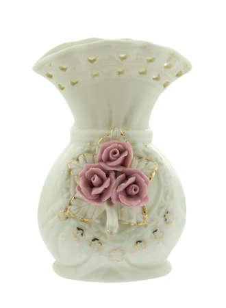 glass vase: Decorative ceramic, Glass vase isolated on white