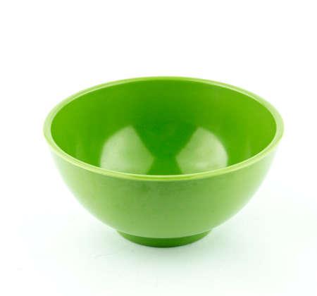 Empty plastic, ceramics bowl. photo