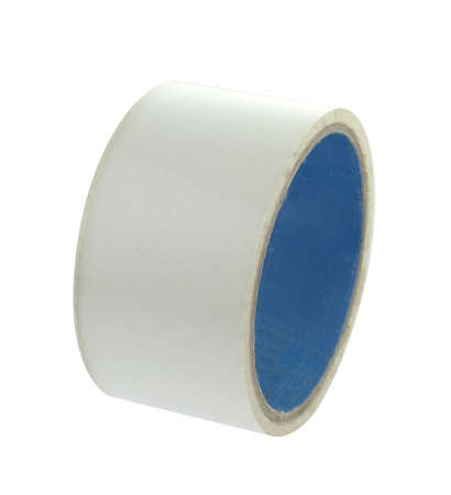 tear duct: Transparent adhesive tape on light background.