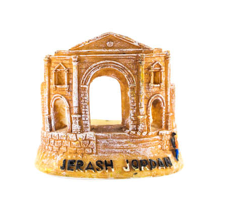 Jerash Souvenir isolatedon white . photo