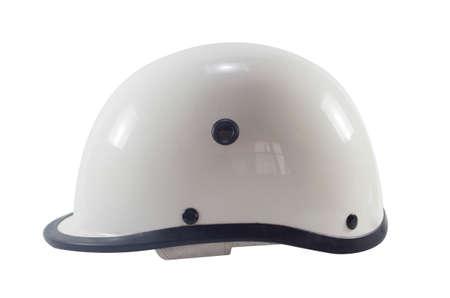 casco moto: Moto casco blanco clásico.