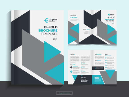 This Bi fold brochure design template for your Corporate, Business, Advertising, Marketing, Agency, Annual report cover, flyer, magazine and Internet business with professional, modern, minimal and ab
