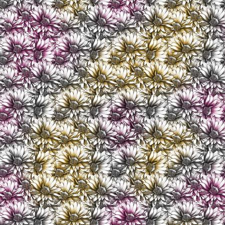 Tropical Watercolor Floral Pattern 写真素材