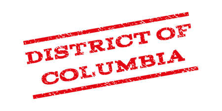 district of columbia: District Of Columbia watermark stamp. Text caption between parallel lines with grunge design style. Rubber seal stamp with unclean texture. Vector red color ink imprint on a white background.