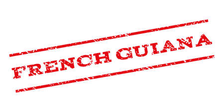 french guiana: French Guiana watermark stamp. Text tag between parallel lines with grunge design style. Rubber seal stamp with dirty texture. Vector red color ink imprint on a white background.