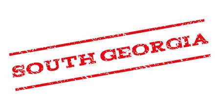 south georgia: South Georgia watermark stamp. Text tag between parallel lines with grunge design style. Rubber seal stamp with scratched texture. Vector red color ink imprint on a white background.