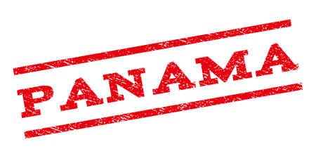 panamanian: Panama watermark stamp. Text tag between parallel lines with grunge design style. Rubber seal stamp with scratched texture. Glyph red color ink imprint on a white background.