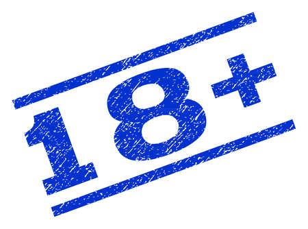 18 Plus watermark stamp