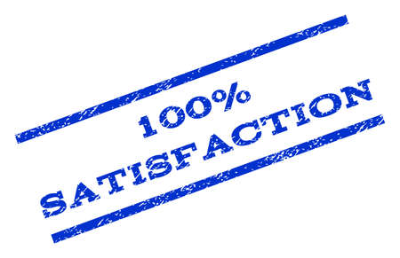 100 Percent Satisfaction watermark stamp