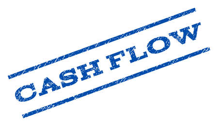 cash flow: Cash Flow watermark stamp. Text caption between parallel lines with grunge design style. Rotated rubber seal stamp with dirty texture. Vector blue ink imprint on a white background. Illustration
