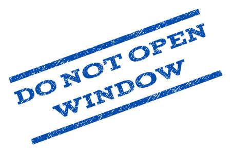 not open: Do Not Open Window watermark stamp.