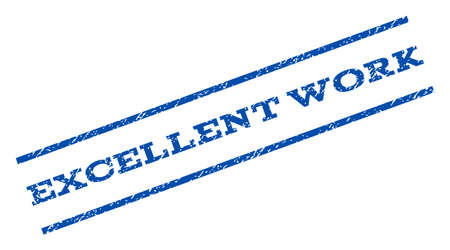 excellent: Excellent Work watermark stamp ink imprint on a white background.