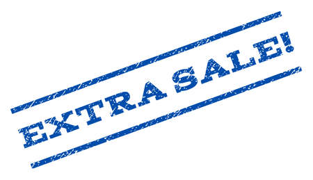 extra: Extra Sale! watermark stamp ink imprint on a white background.
