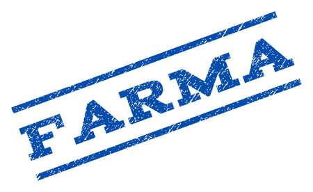Farma watermark stamp. Ilustracja