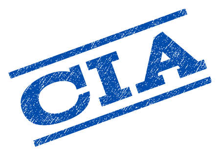CIA watermark stamp ink imprint on a white background.