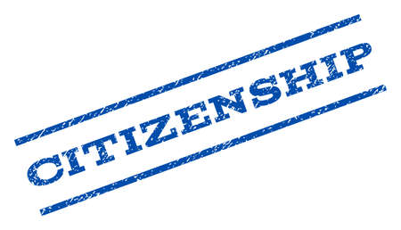citizenship: Citizenship watermark stamp. Illustration