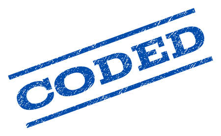 coded: Coded watermark stamp.