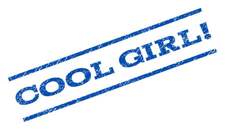 cool girl: Cool Girl! watermark stamp ink imprint on a white background. Illustration