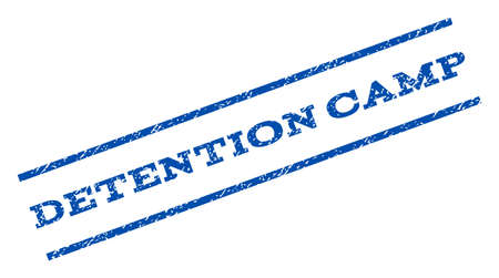 Detention Camp watermark stamp. Illustration