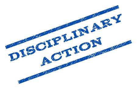 Disciplinaire actie watermerkstempel. Stock Illustratie