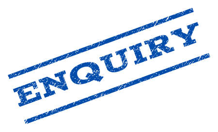 enquiry: Enquiry watermark stamp. Illustration