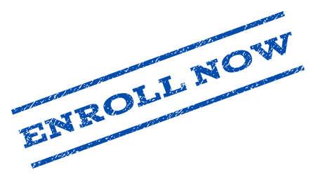 enroll: Enroll Now watermark stamp. Illustration
