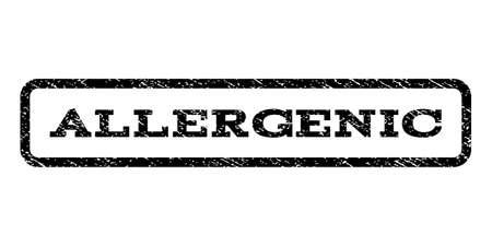 allergenic: Allergenic watermark stamp. Vector black ink imprint on a white background.