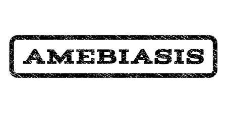 venereal: Amebiasis watermark stamp. Vector black ink imprint on a white background. Illustration