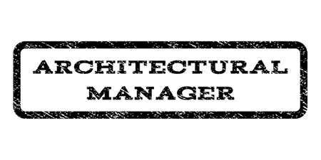architectural manager watermark stamp text tag inside rounded