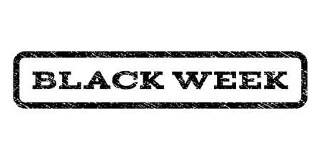 Black Week watermark stamp.