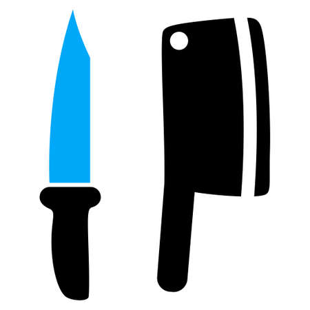 stainless steel: Butchery Knives vector pictogram. a flat isolated illustration on a white background.