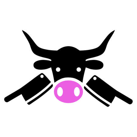 Butchery raster icon. a flat isolated illustration on a white background.