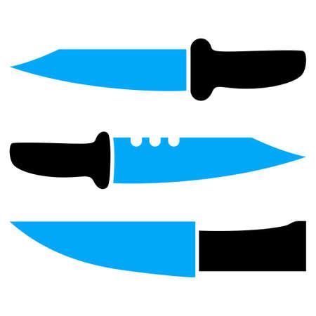 Cuchillos pictograma raster. una ilustración aislada plana sobre un fondo blanco.