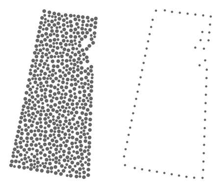 Dotted and Contour map of Saskatchewan Province composed with dots. Vector gray abstraction of map of Saskatchewan Province. Illustration