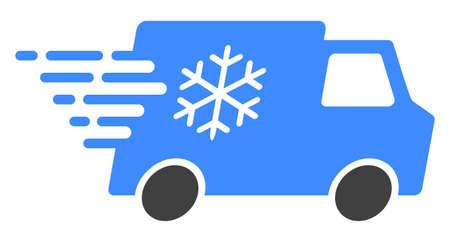 Icône de voiture réfrigérateur avec effet de vitesse rapide. Illustration vectorielle conçue pour un résumé moderne avec des symboles de vitesse, de précipitation, de progrès, d'énergie.