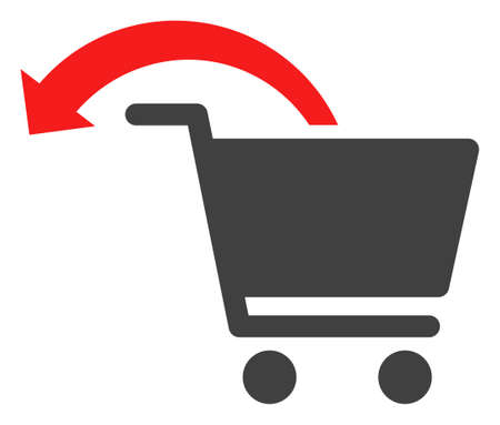 Refund shopping order icon on a white background. Isolated refund shopping order symbol with flat style.