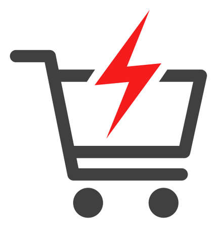 Instant shopping icon on a white background. Isolated instant shopping symbol with flat style.