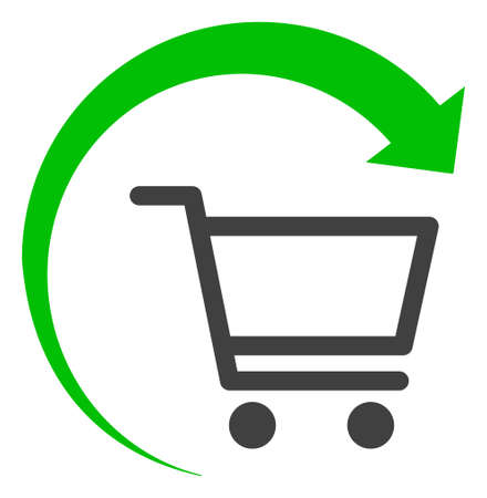 Repeat purchase order icon on a white background. Isolated repeat purchase order symbol with flat style.