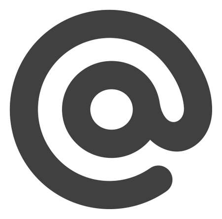 Email symbol icon on a white background. Isolated email symbol with flat style.