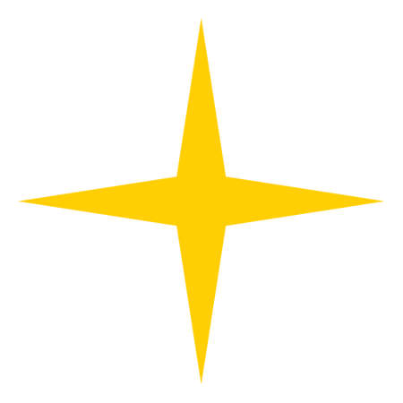 Space star icon on a white background. Isolated space star symbol with flat style.