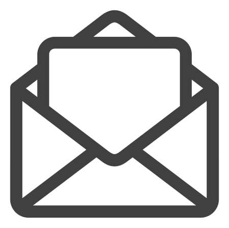 Open letter icon on a white background. Isolated open letter symbol with flat style. Ilustração