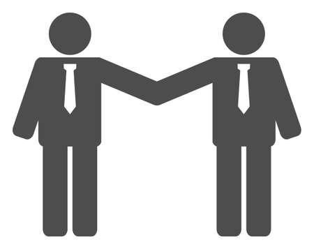Businessmen relations icon on a white background. Isolated businessmen relations symbol with flat style. Stock Illustratie