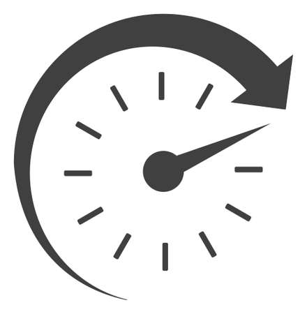 Time forward icon on a white background. Isolated time forward symbol with flat style.