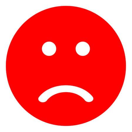 Sad smiley icon on a white background. Isolated sad smiley symbol with flat style.