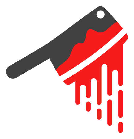 Blood butchery knife icon on a white background. Isolated blood butchery knife symbol with flat style. Illustration
